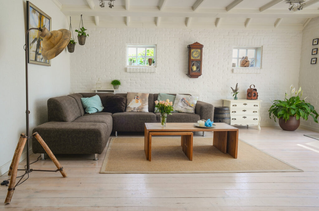 creating a cozy living space like this living room