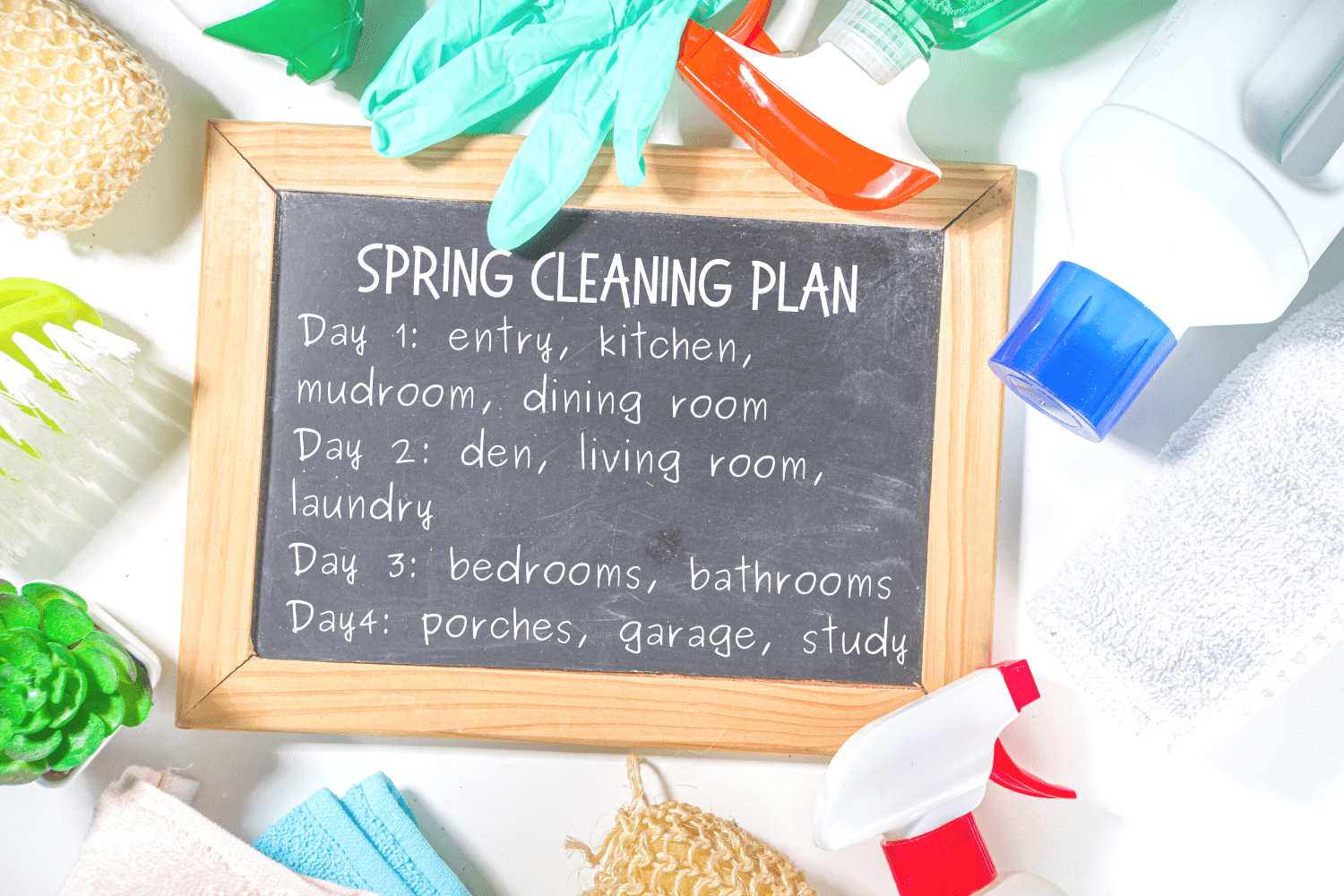 Making a plan helps you to get motivated to spring clean