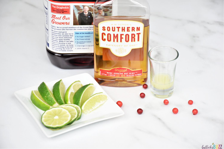 ingredients to make Scarlett O'Hara cocktail