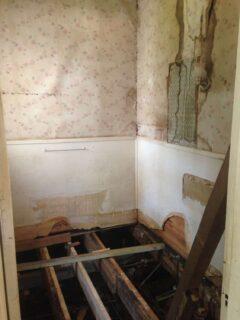 bathroom being remodeled