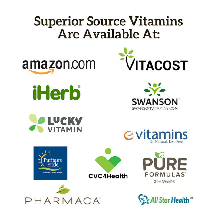 find Superior Source vitamins at these retailers