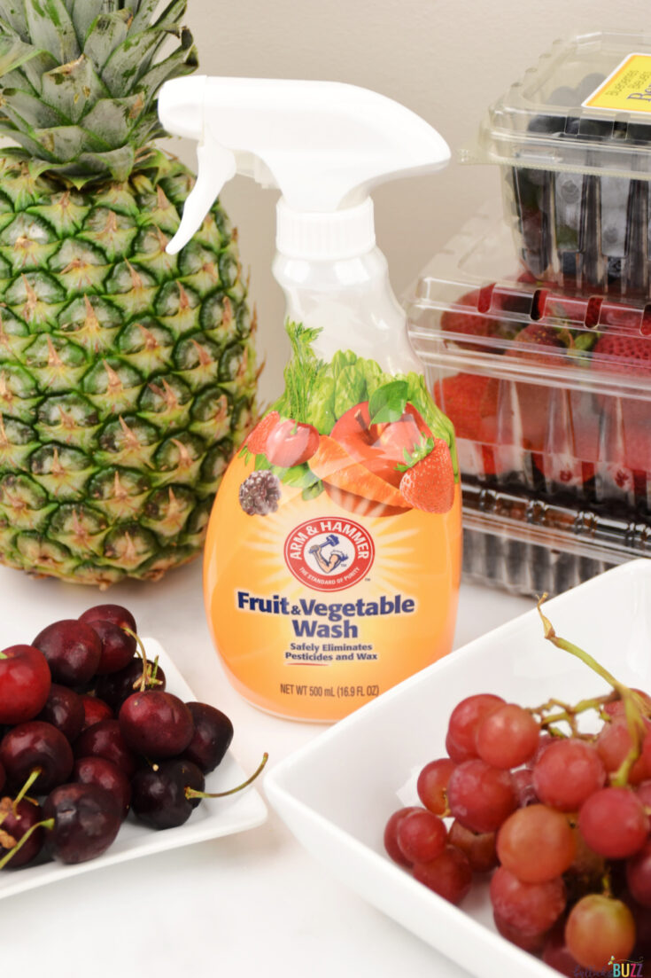 Serve clean and healthy produce to your family with Arm and Hammer Fruit & Vegetable Wash