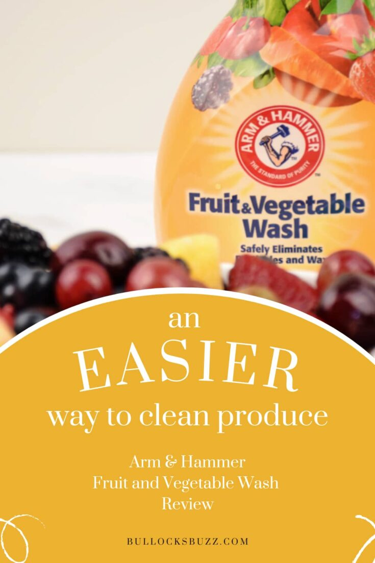 Ensure the produce you serve your family is free from yucky pesticides and other contaminants by using Arm and Hammer Fruit & Vegetable Wash. #cleanliving #fruits #vegetables