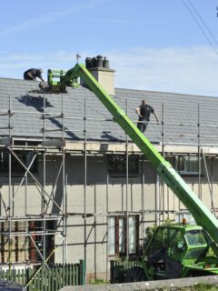before starting major home repairs like this new roof, use these tips to select an experienced company for home repairs