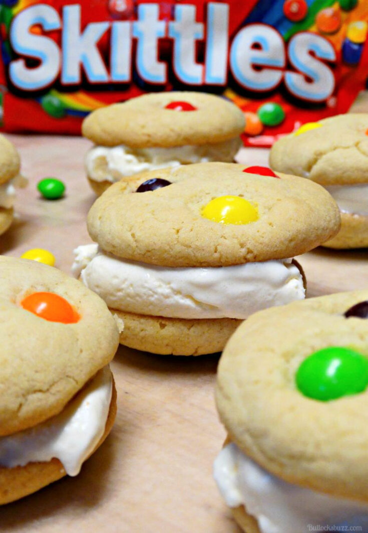 You scream, I Scream, We all scream for...ice cream sandwiches! But not just any ice cream sandwiches, these made-from-scratch Skittles Cookie Ice Cream Sandwiches!