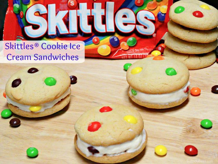 Skittles® Cookie Ice Cream Sandwiches recipe