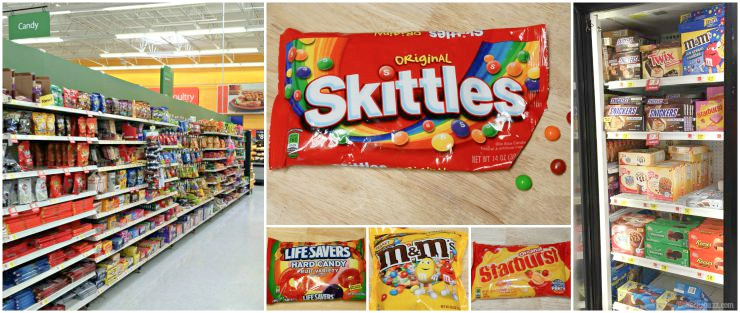 where to find the candy in walmrt