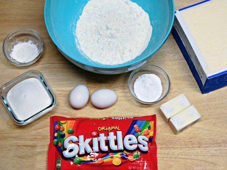 Skittles® Cookie Ice Cream Sandwiches ingredients