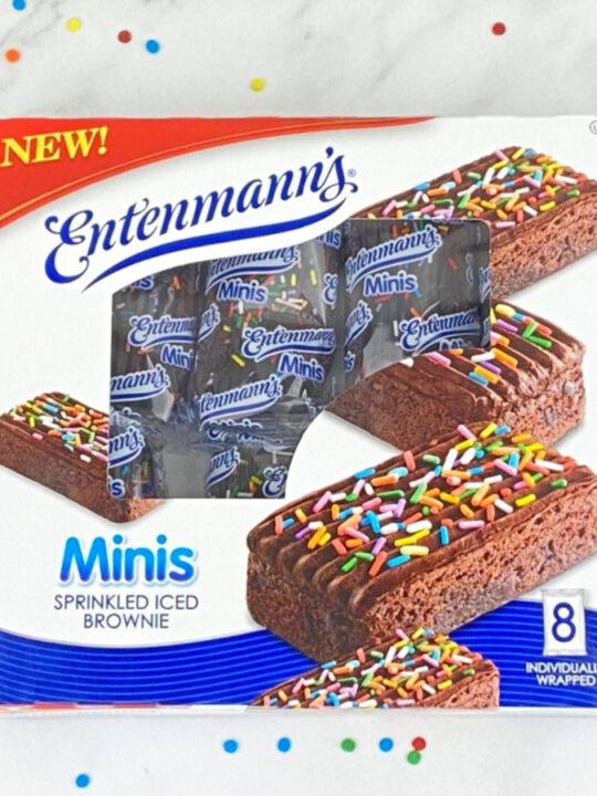 Entenmann's Minis Sprinkled Iced Brownies in box