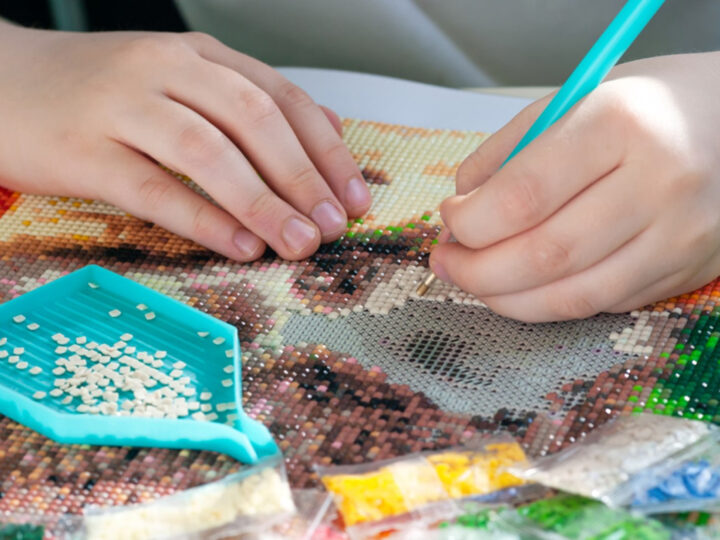 diamond art painting is one of the Crafts for Kids That Allow Self Expression