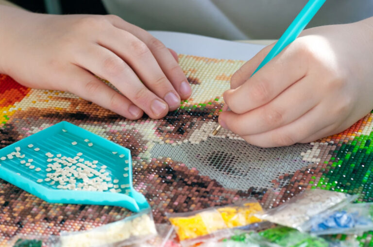 Diamond Art Painting is one of5 Crafts for Kids That Allow Self Expression