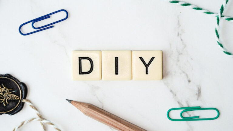three letter tiles spelling out DIY