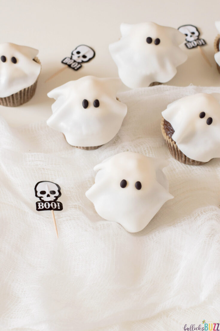 Hauntingly delicious Halloween Ghost Cupcakes recipe perfect for kids!