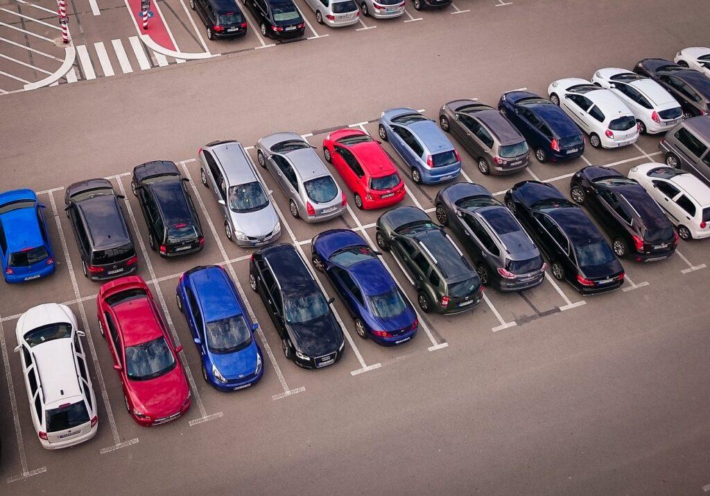 car lot full of cars