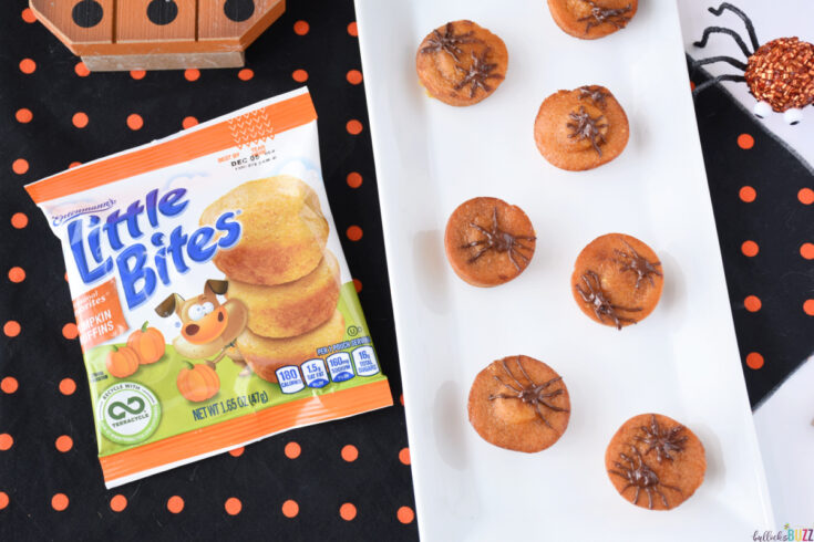 Little Bites Halloween Spider Muffins on plate