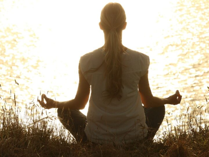 meditating is one of the many ways to live a less stressful life